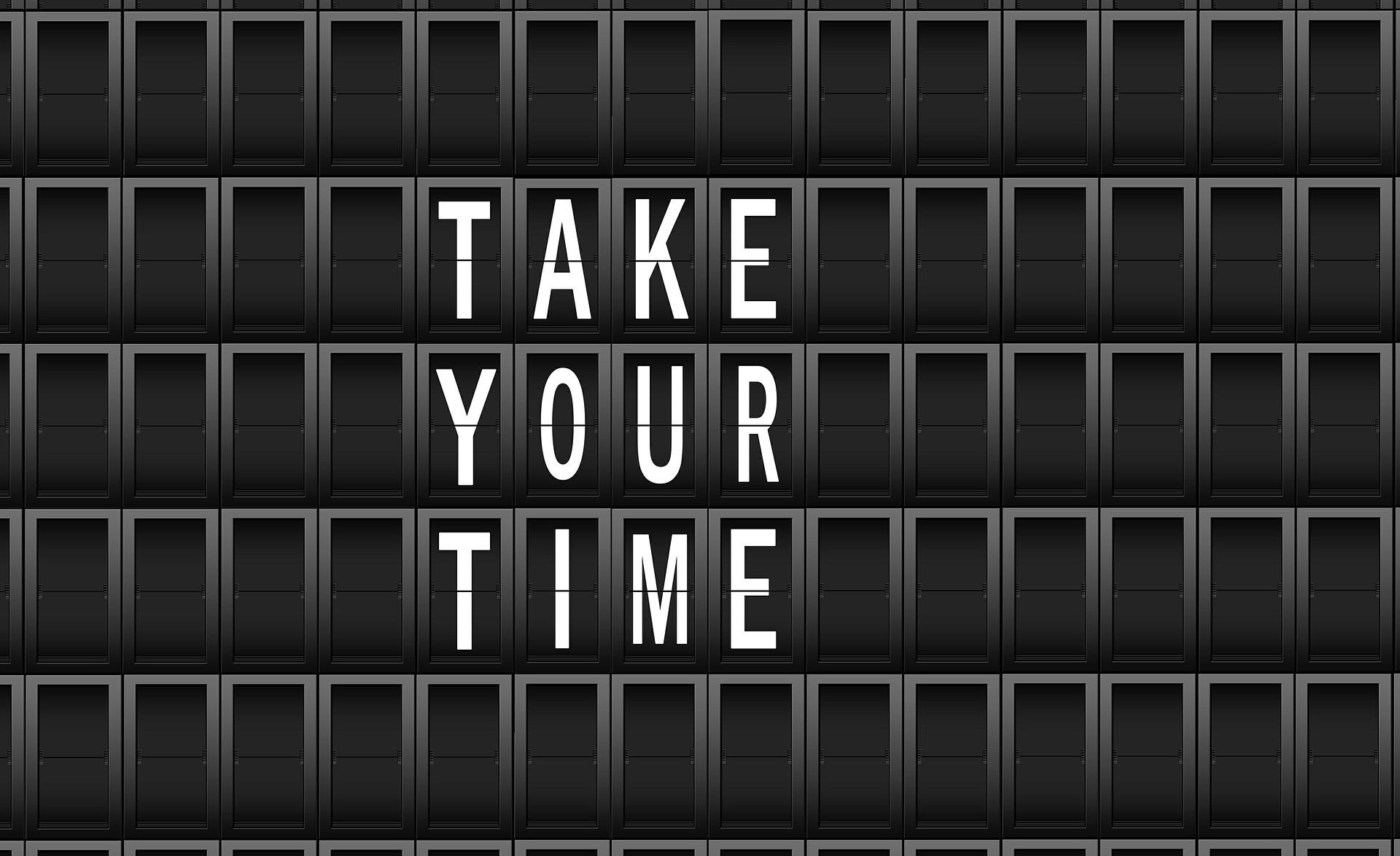 Take your time (tekst)